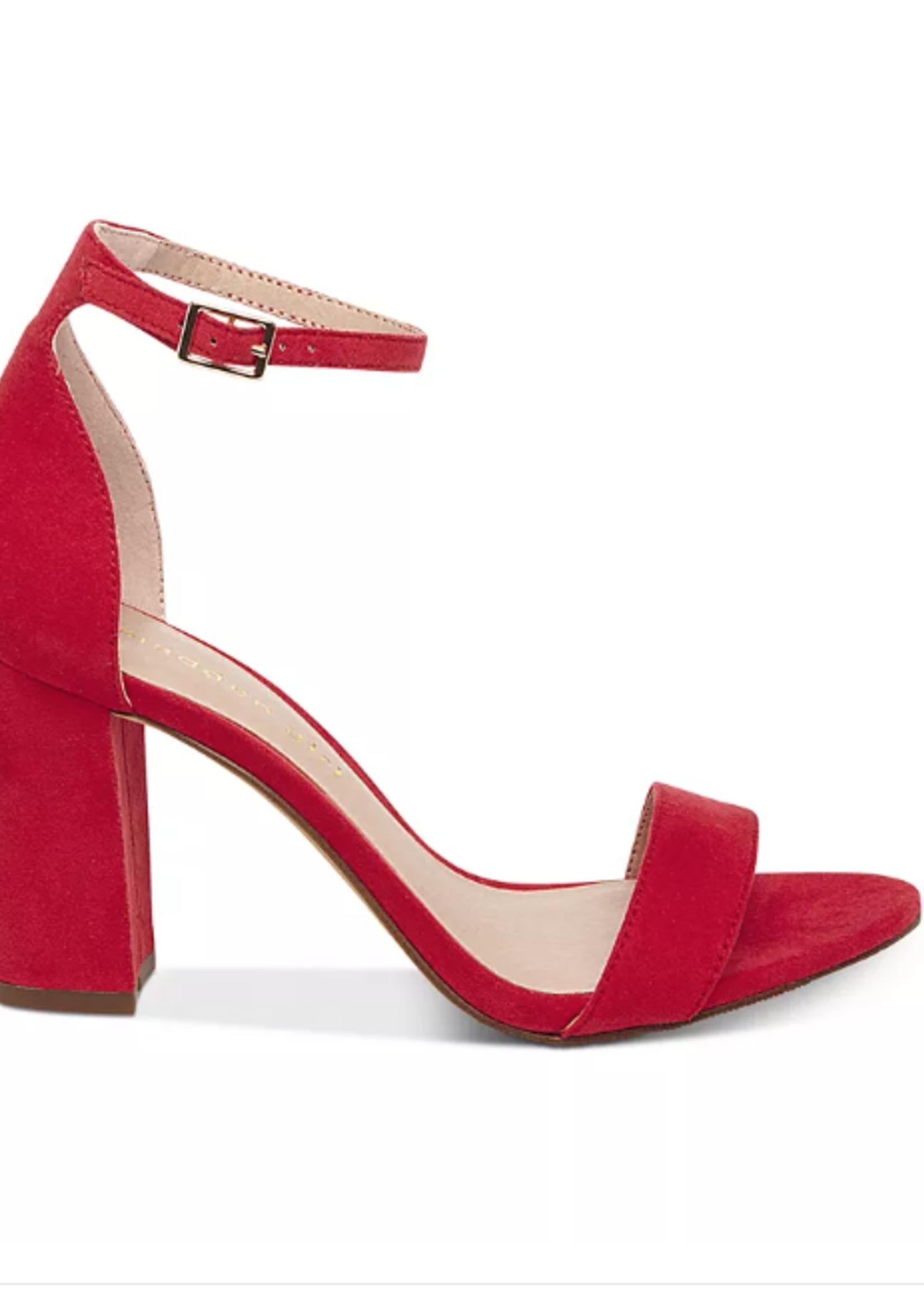 Red Essential Block Heels