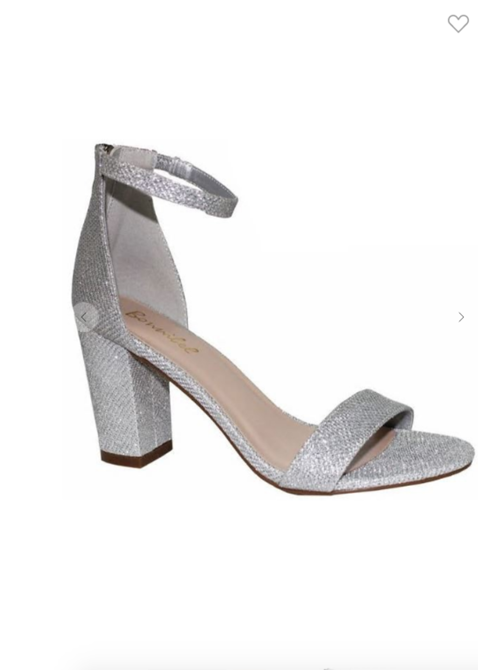 Silver Sparkle Block Heels