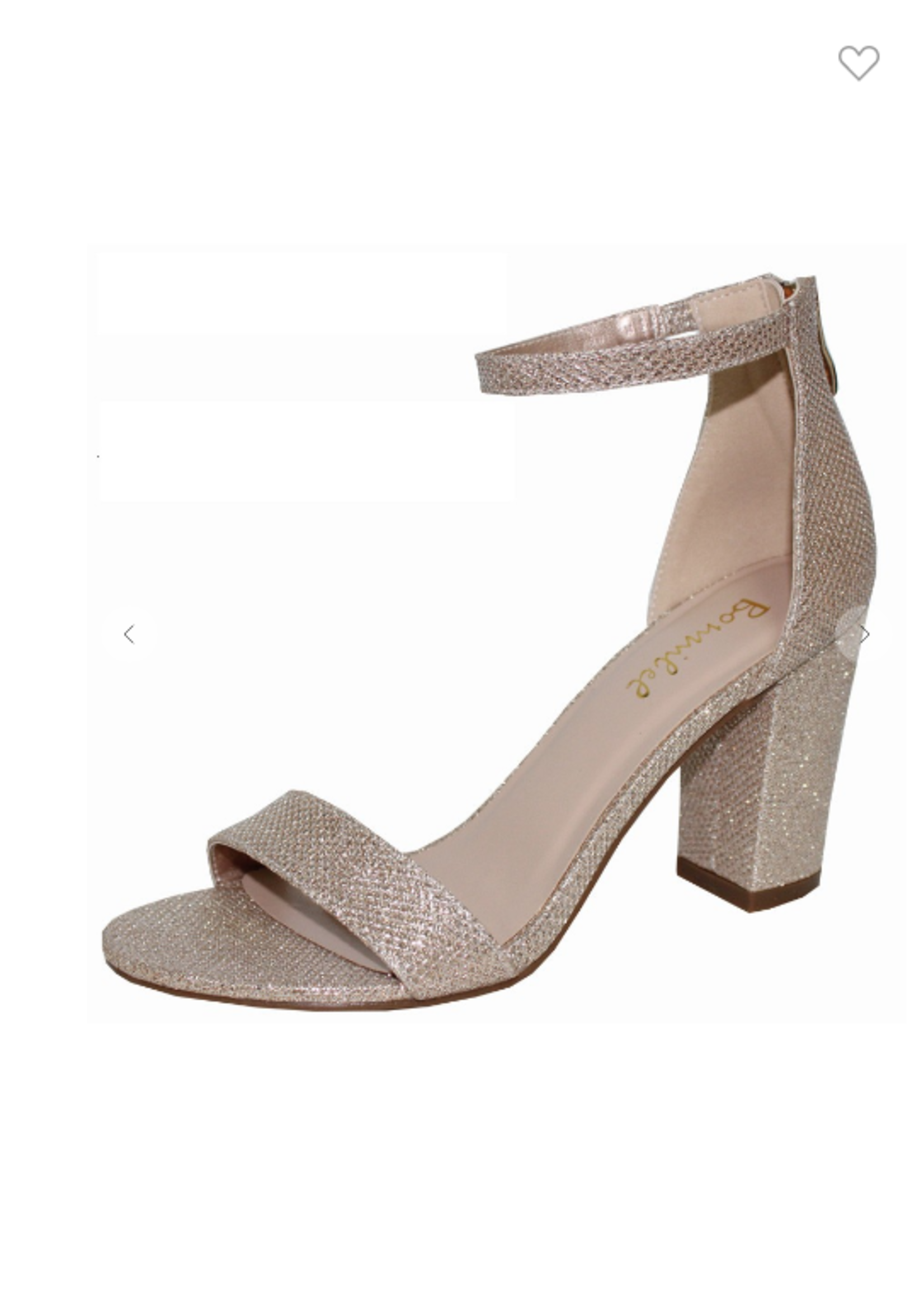 Champagne Sparkle Block Heels