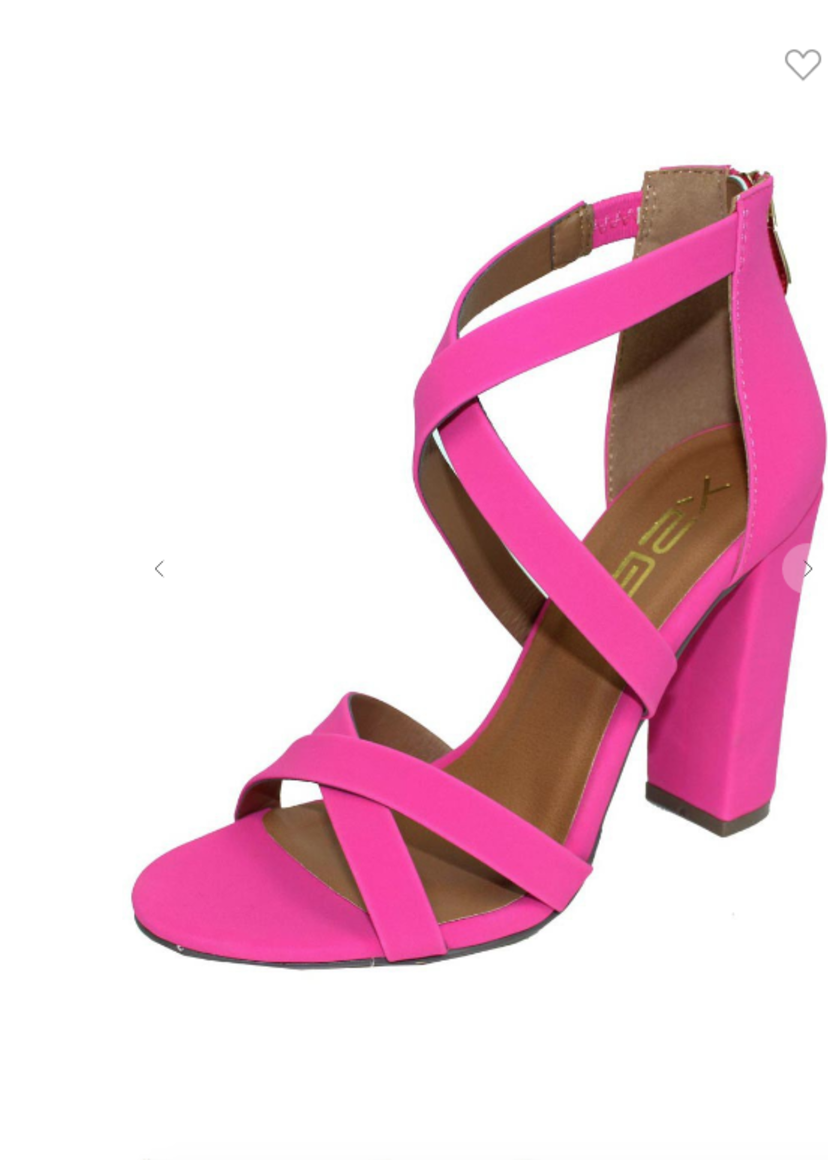 Hot Pink Strappy Heels