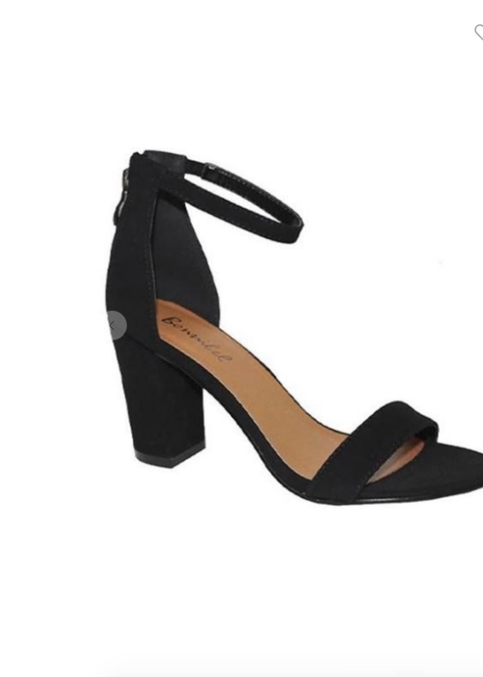 Black Essential Block Heels