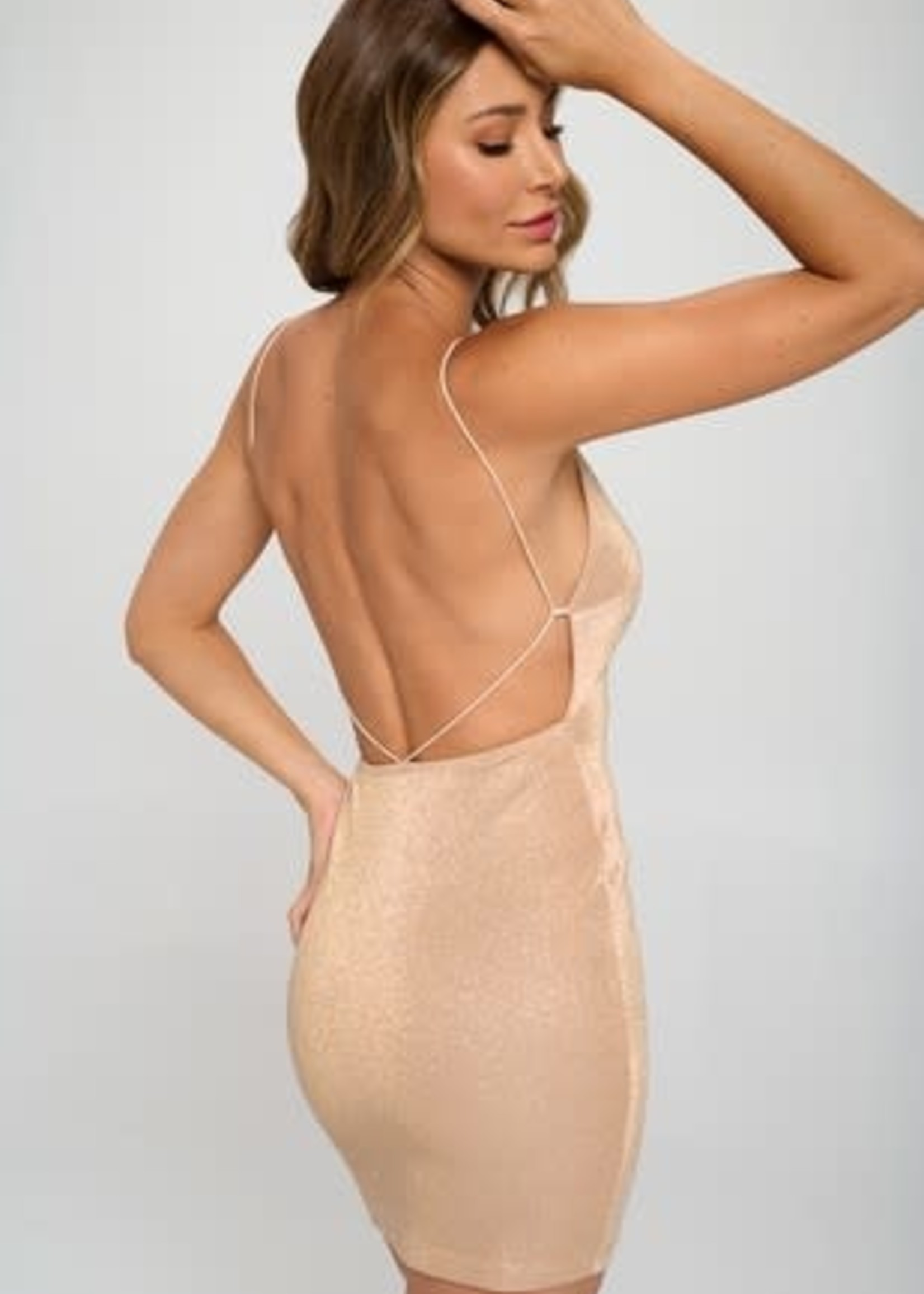 Sparkle and Dream Open Back Dress (2 Colors)