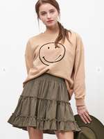 Smiley Face Taupe/Black Sweatshirt