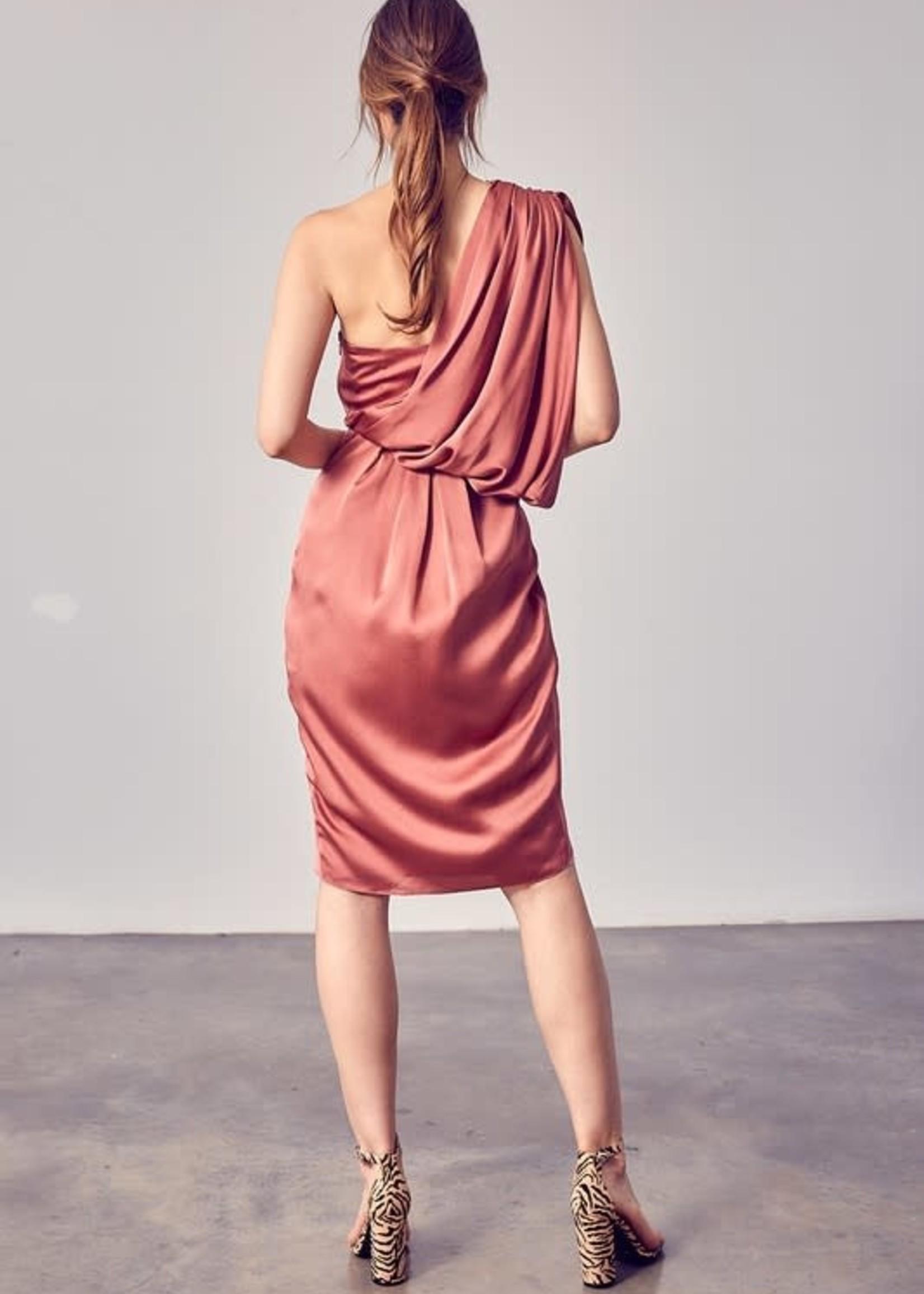 Autumn Is Calling Satin Dress