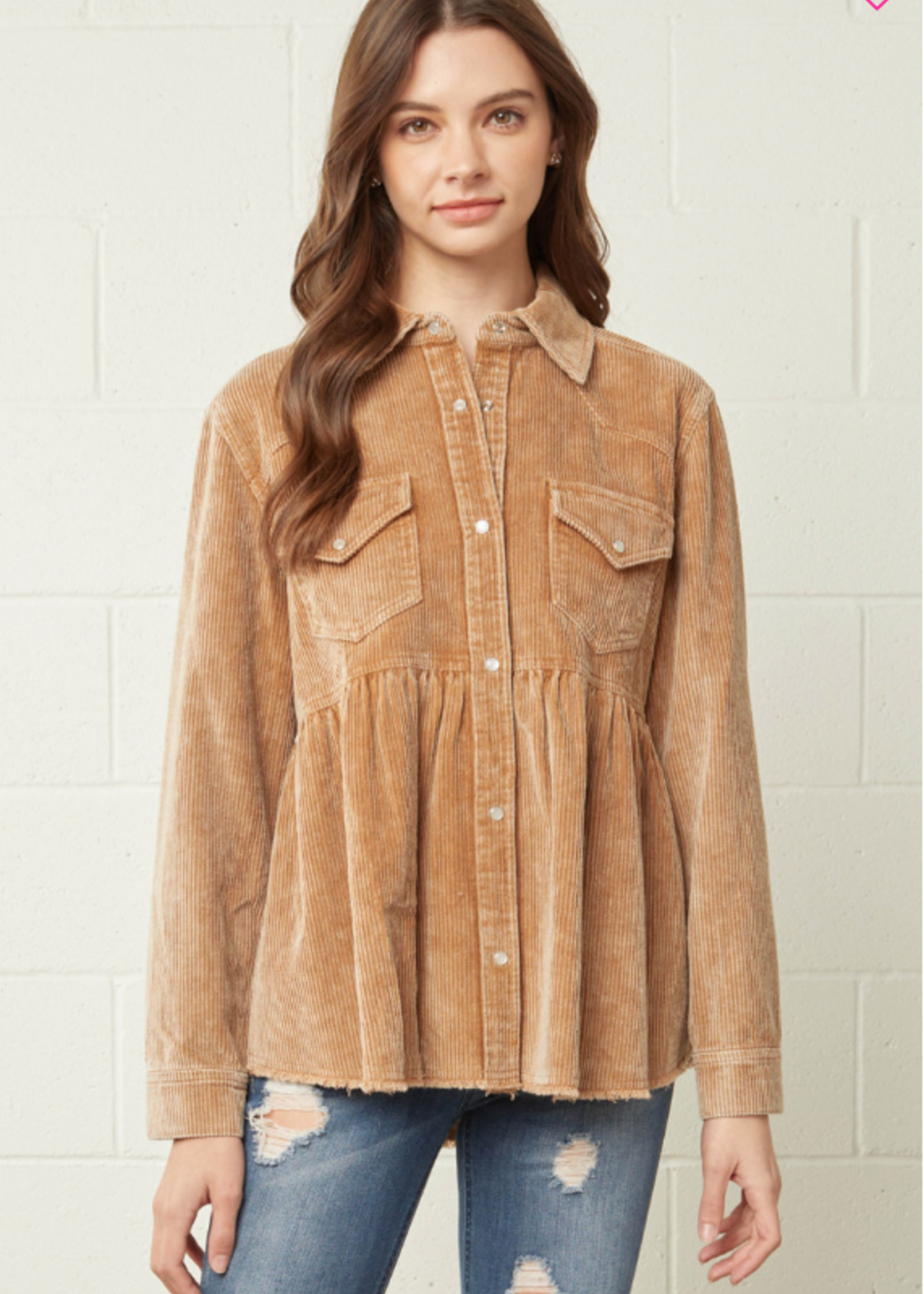 Signs of Fall Corduroy Shacket (4 Colors)