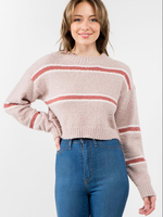Soft and Cozy Fall Stripe Sweater (3 Colors)