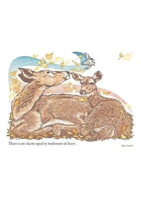 Artists To Watch Doe & Fawn Mother's Day Card