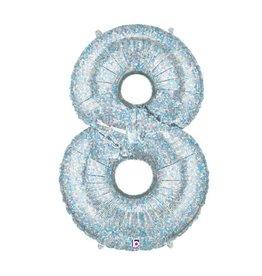 Burton and Burton Jumbo Hologram Number Balloon