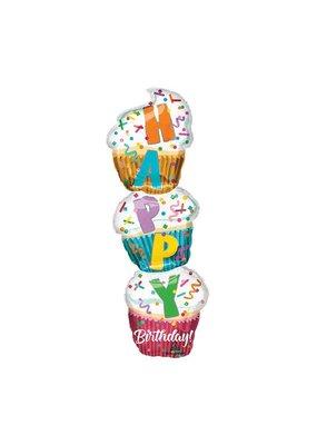 Burton and Burton Cupcake Stack Birthday Ballons