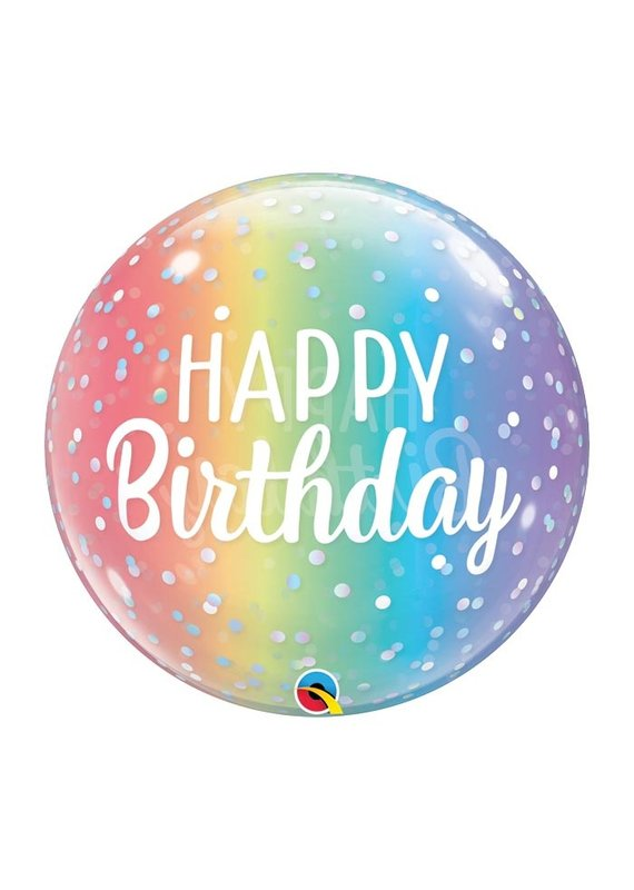 Burton and Burton Rainbow Ombre Happy Birthday Bubble Balloon