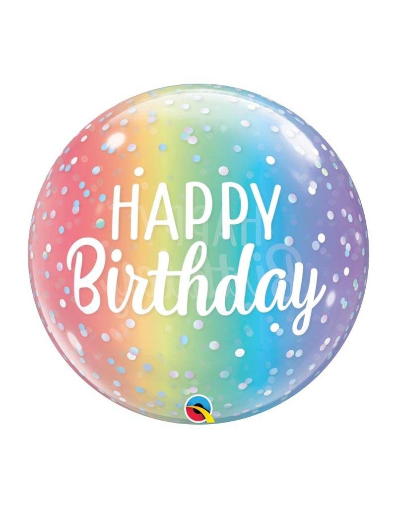 Burton and Burton Rainbow Ombre Happy Birthday Bubble Balloon