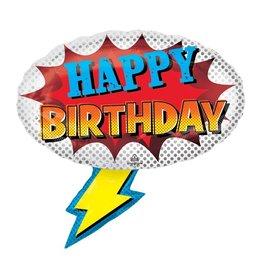 Burton and Burton Comic Book Birthday Balloon