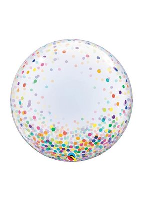 Qualatex Confetti Print Deco Bubble Balloon