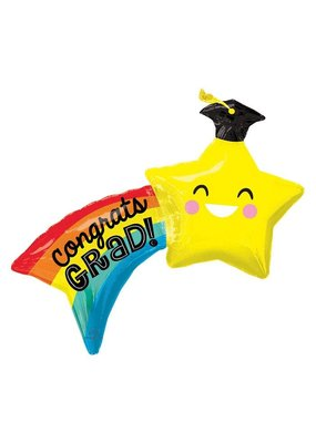 Burton and Burton Jumbo Graduation Shooting Star Balloon