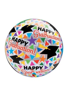 Burton and Burton Graduation Multicolor Confetti Bubble Balloon
