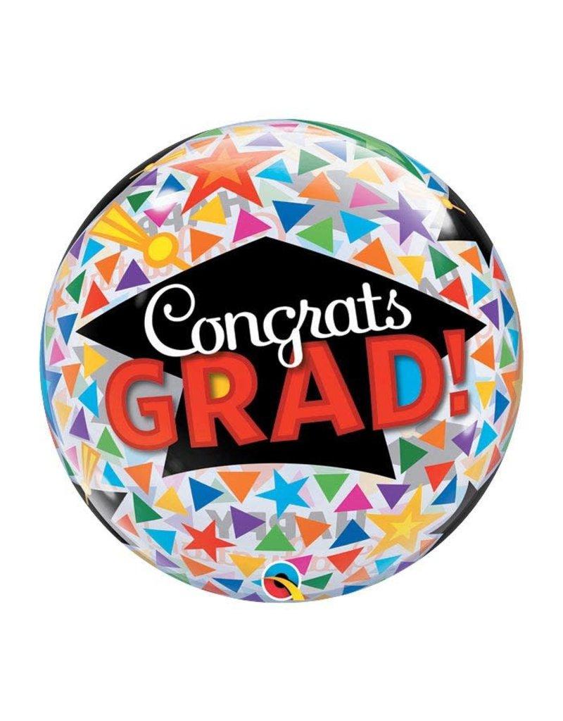 Burton and Burton Graduation Multicolor Confetti Bubble Balloon