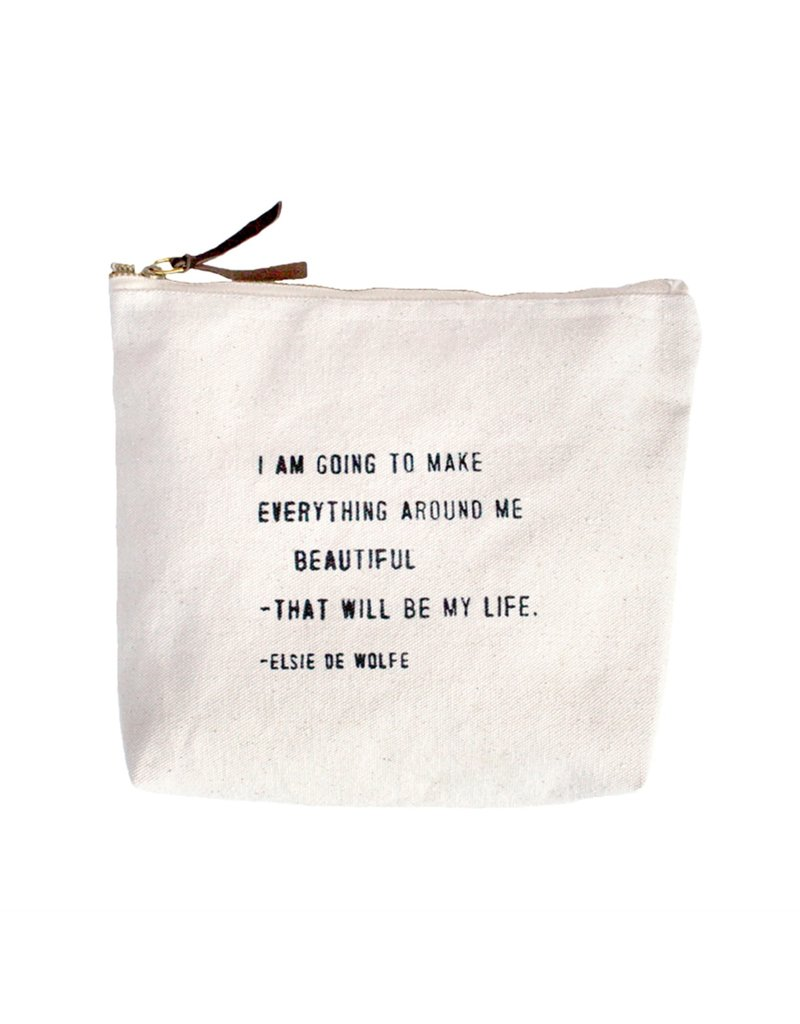 Sugarboo Canvas Pouch with Quote