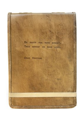 Sugarboo Leather Journal with Quote