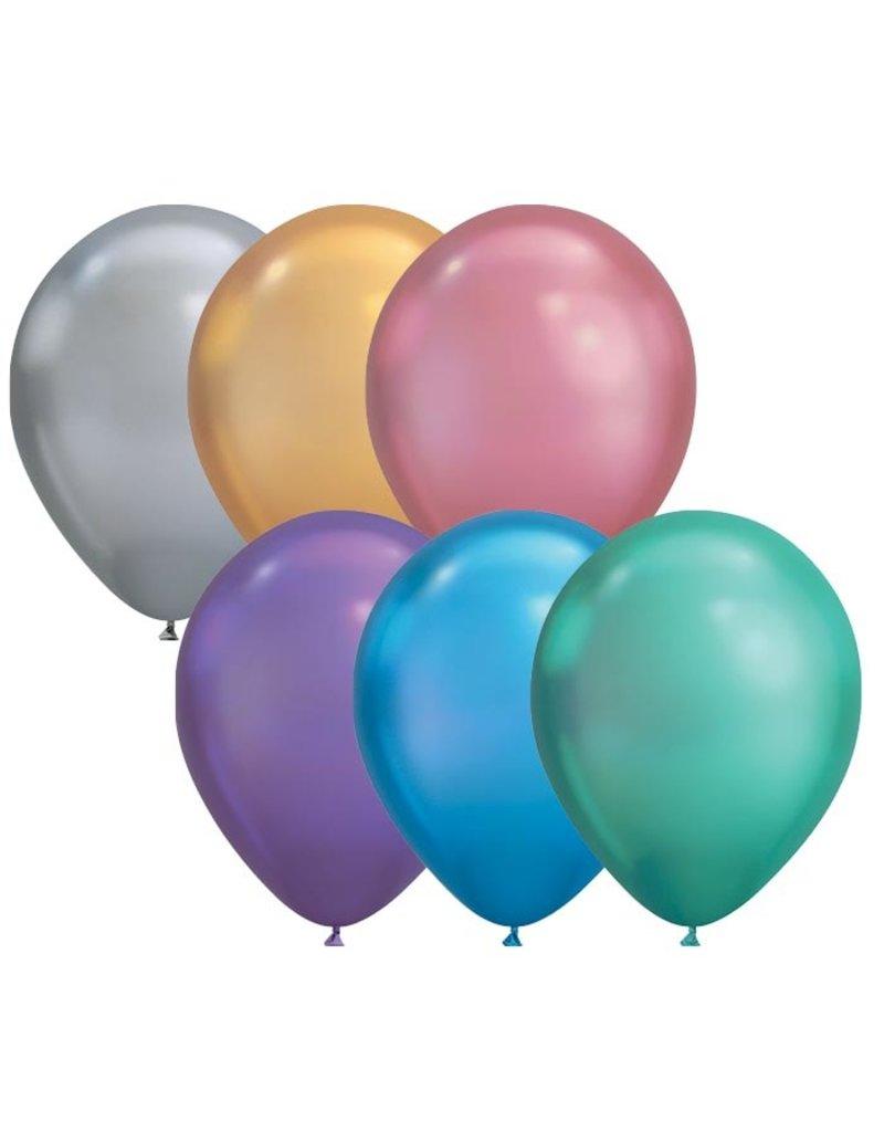 "Qualatex 11"" Chrome Latex Balloons"
