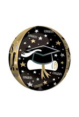 Burton and Burton Gold Graduation Orbz Balloon
