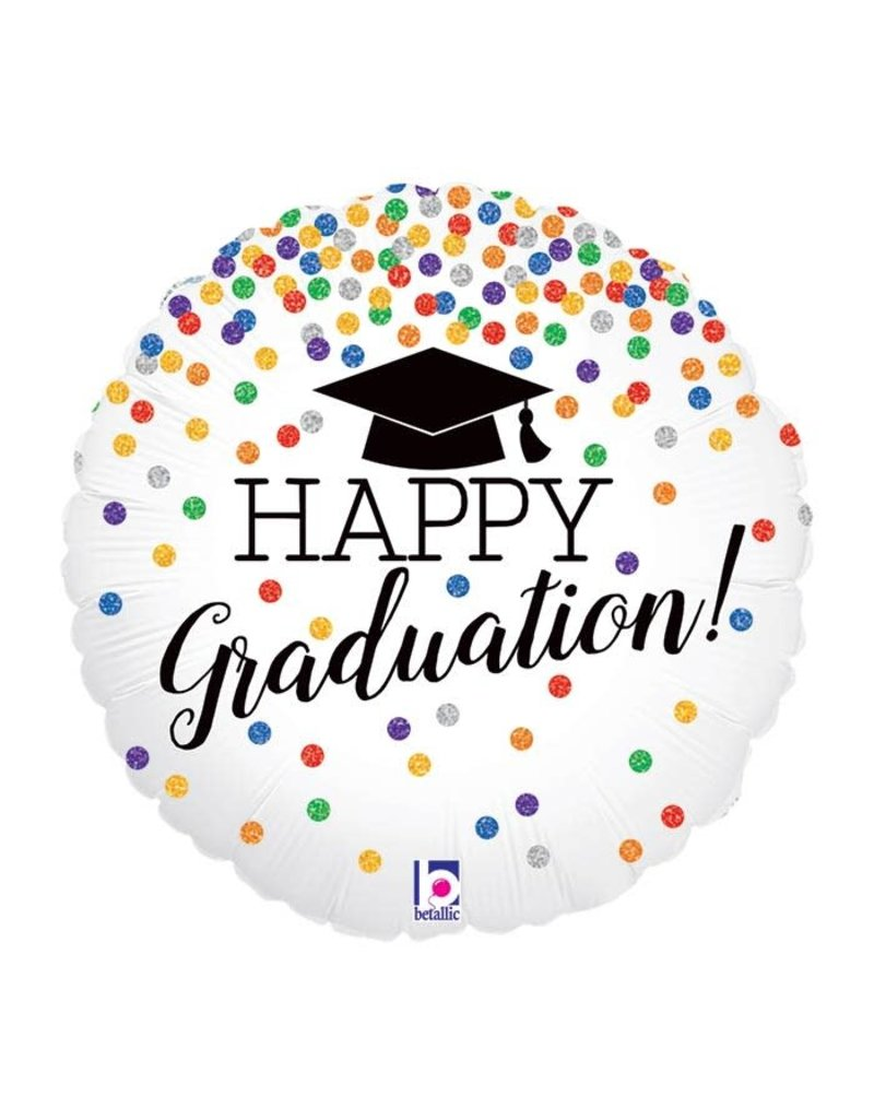 Betallic Confetti Grad Balloon