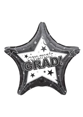 Black Graduation Star Balloon