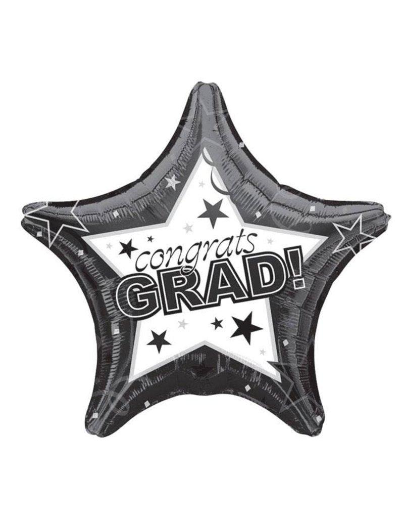 Black Graduation Star Balloon
