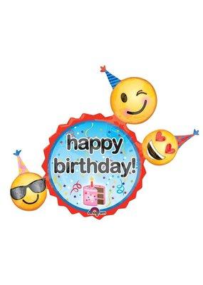 Emoji trio birthday balloon