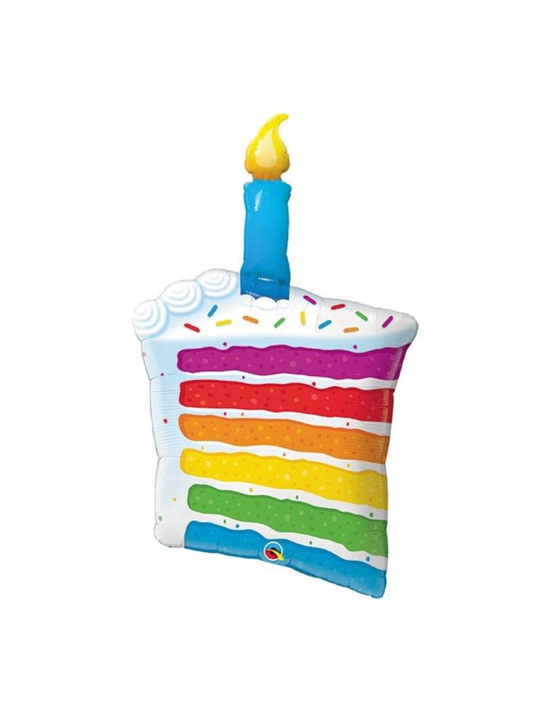 Anagram Rainbow Cake Slice Balloon