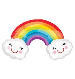 Anagram Rainbow with Happy Clouds Balloon