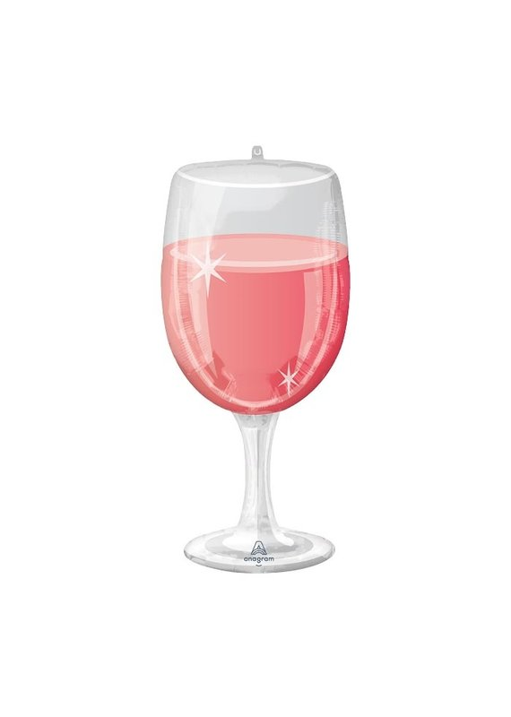 Glass of Rose' Balloon