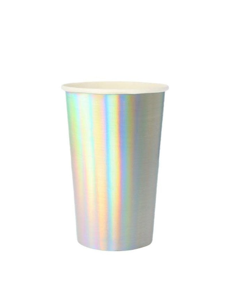 Meri Meri Silver Hologram Highball Cups