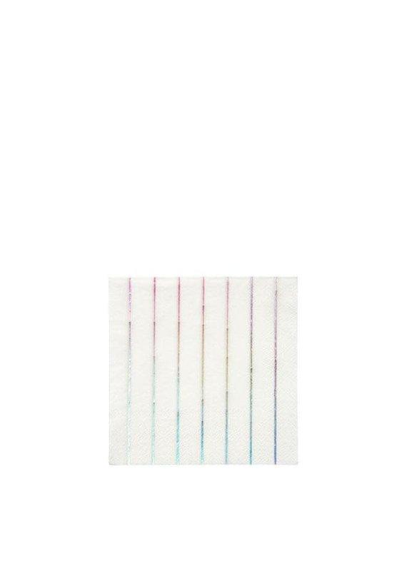Meri Meri Hologram Striped Cocktail Napkins