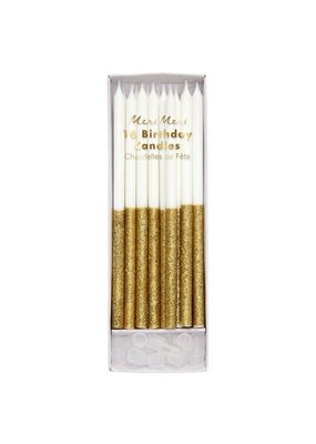 Meri Meri Gold Glitter Dipped Birthday Candles