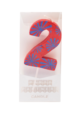 Party Partners Decal Number Candle