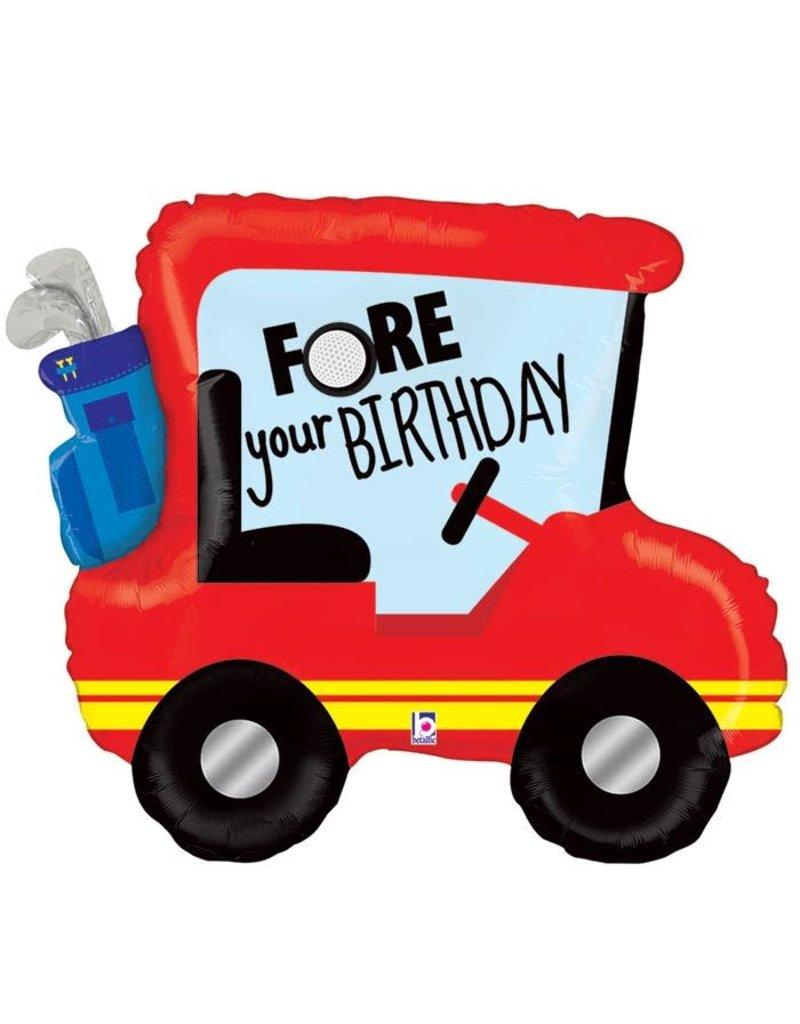 Golf Cart Birthday Balloon
