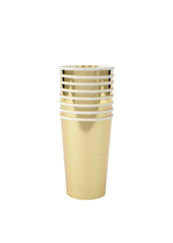 Meri Meri Gold Highball Cups