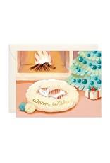 Joo Joo Paper Cat Warm Wishes Holiday Cards