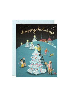 Joo Joo Paper Tree Decorating Boxed Holiday