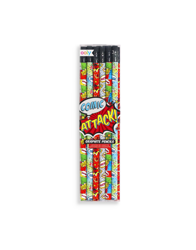 Ooly Comic Attack Pencils Set of 12