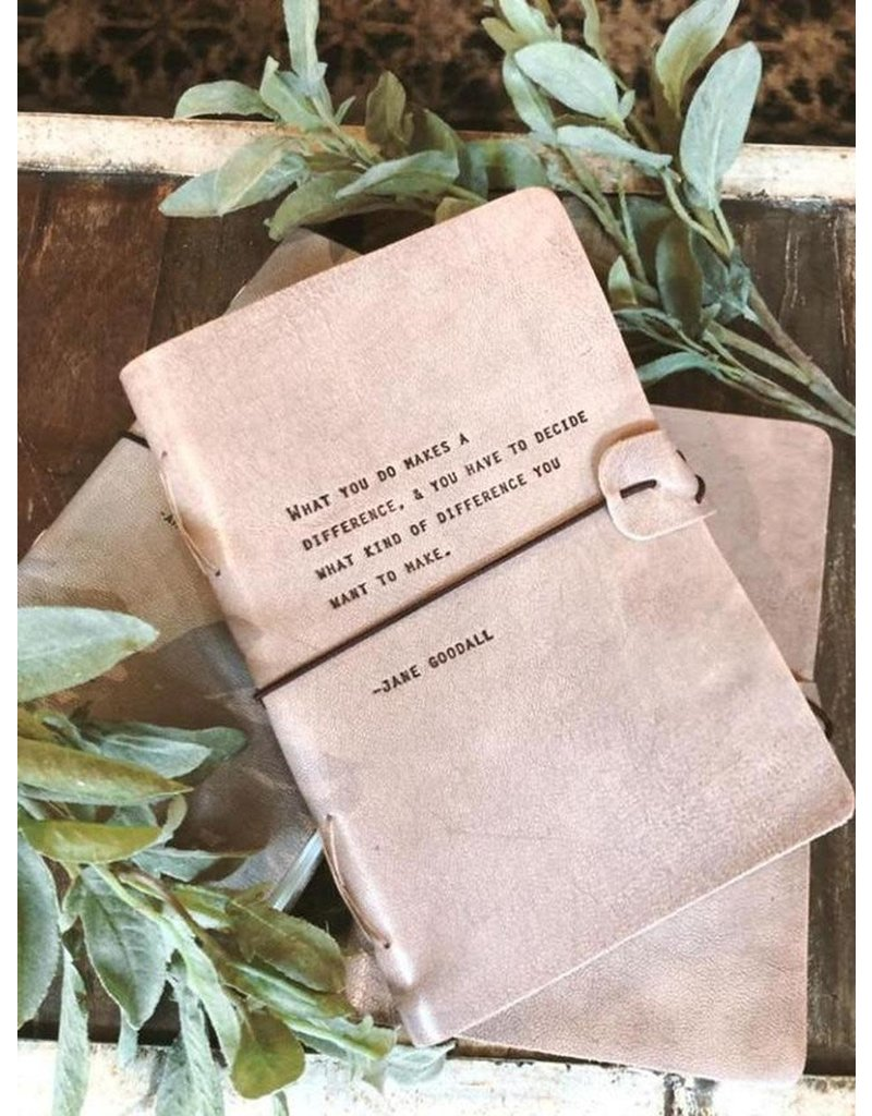 Sugarboo Journals - Blush/Grey Quote