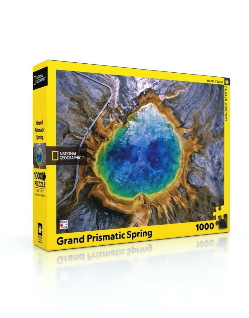 NY Puzzle Co Grand Prismatic Spring Jigsaw Puzzle