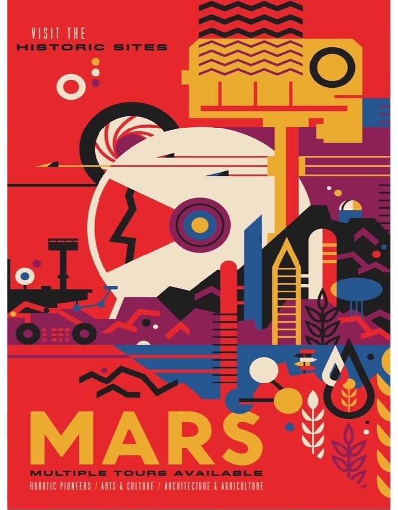 NY Puzzle Co Visit Mars Jigsaw Puzzle