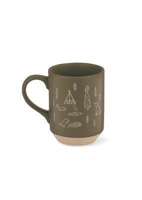 Fringe Happy Camper Stoneware Mug