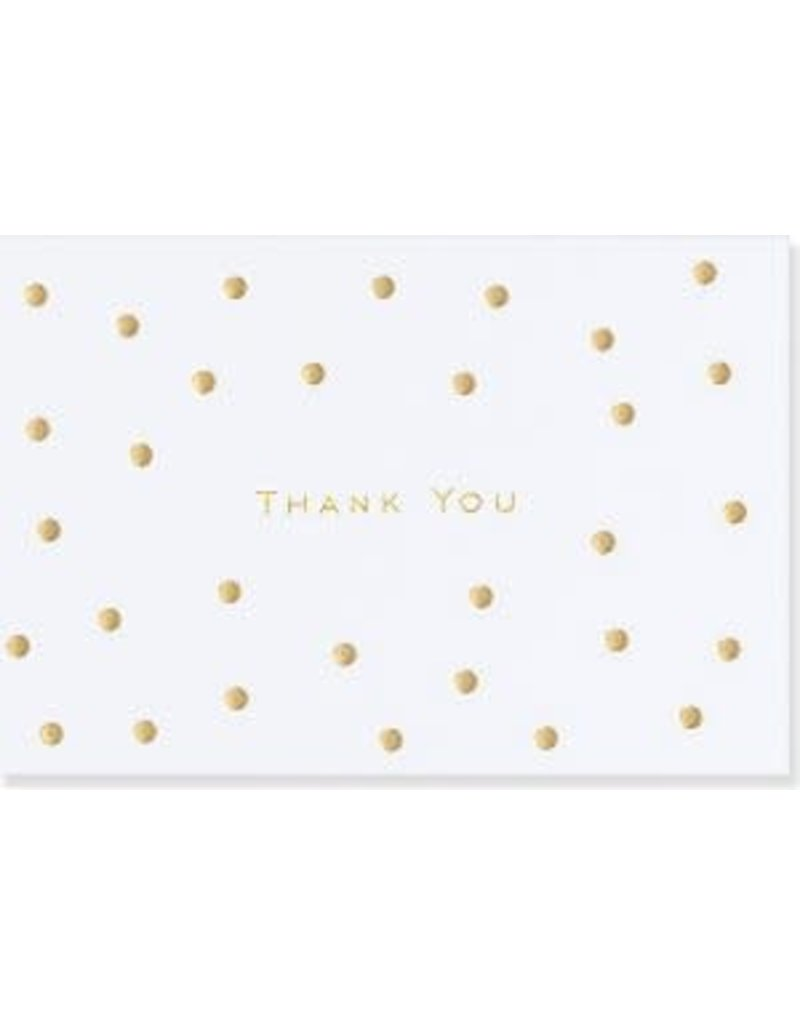 Peter Pauper Gold Dots Thank You Notes