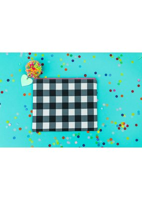 Taylor Elliott Designs Black Gingham Pouch