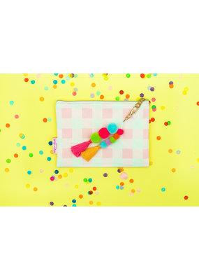 Taylor Elliott Designs Pink Gingham Pouch
