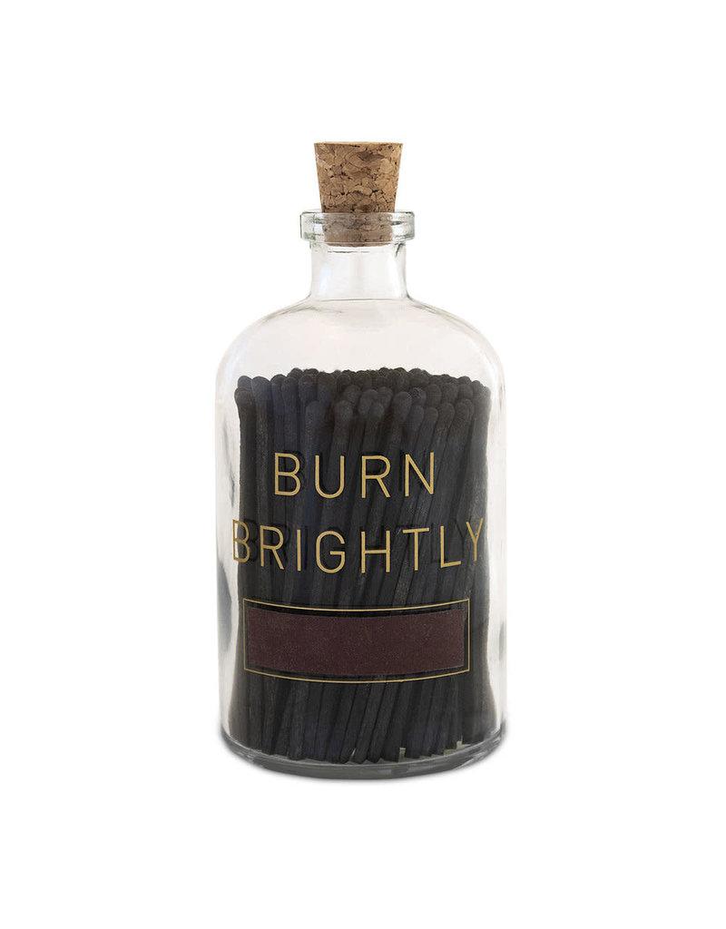 Skeem Design Burn Brightly Glass Match Bottle