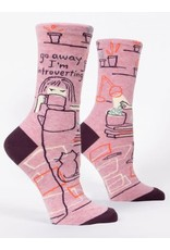 blue q Introverting Crew Socks