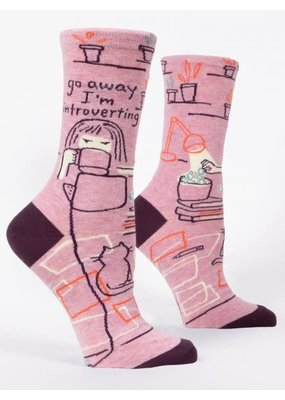 blue q Introverting Crew Socks